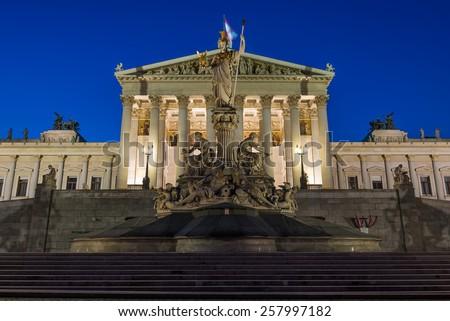 Parliament in Vienna Austria - stock photo