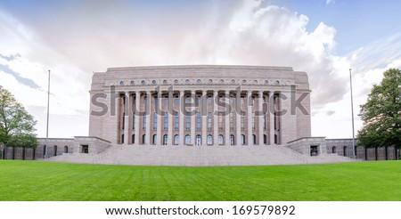 Parliament of Finland in Helsinky - stock photo