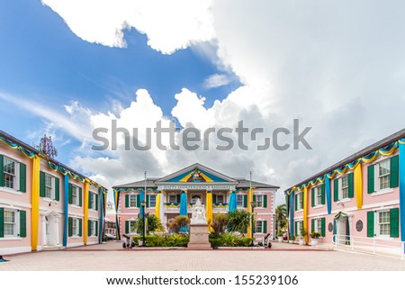 Parliament Square in Nassau, Bahamas. - stock photo
