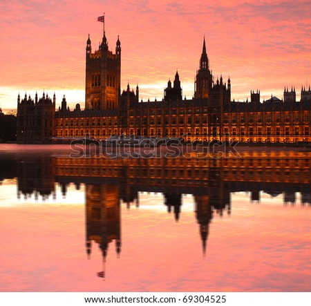 Parliament,  Westminster, London, UK - stock photo