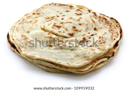 parotta, south indian layered flatbread
