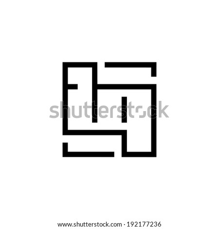 Parquet sign Branding Identity Corporate logo design template Isolated on a white background - stock photo