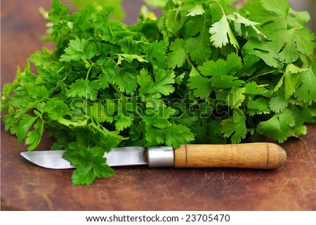 Parsley and coriander.