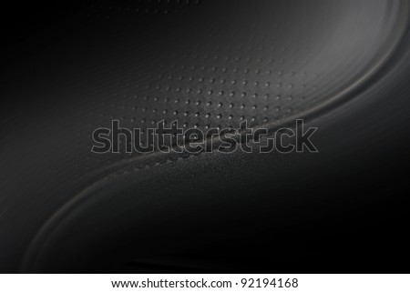 Part motorcycle leather seats for the background - stock photo
