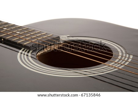Part of a beautiful acoustic guitar