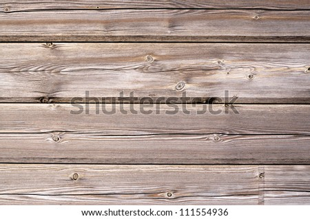 Part of a brown woodboard texture. - stock photo