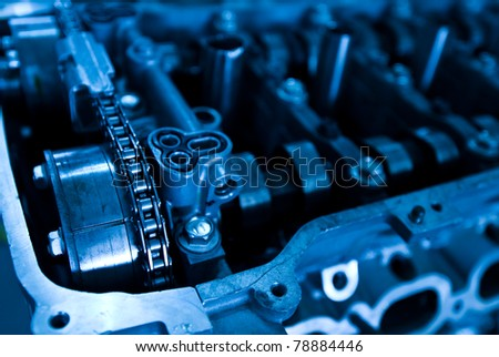 Part of a car engine. - stock photo