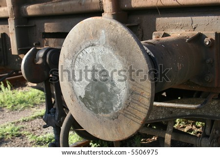 Part of a cargo train - stock photo