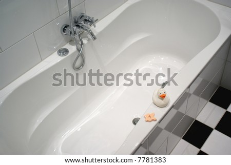 Part of a modern bathroom. - stock photo