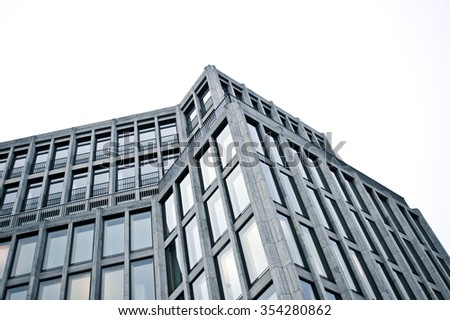 Part of a multi-storey urban building in Germany - stock photo