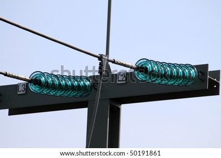 part of a power supply line - stock photo