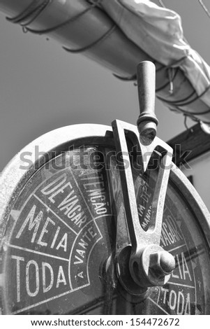 Part of a Sailing Vessel - stock photo