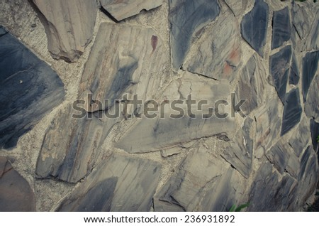 part of a stone wall background - stock photo