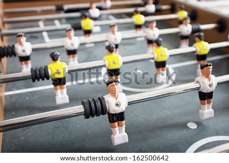 part of an old table soccer game - nice close-up