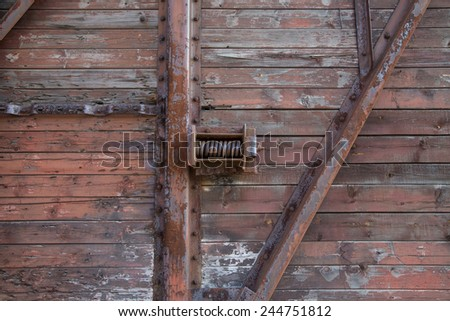 part of an old wagon located as a whole background