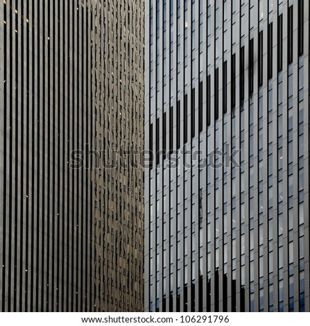 part of building in New York City - stock photo