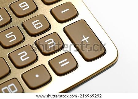 Part of calculator- studio closeup - stock photo