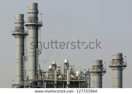 Part of Chemical Plant, - stock photo