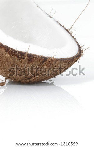 Part of coconut shell - stock photo