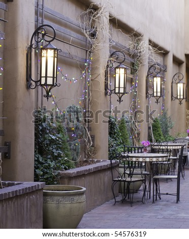 Part of courtyard in Santa Fe