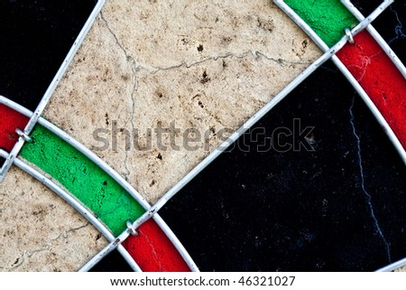 Part of dartboard can be used as background - stock photo