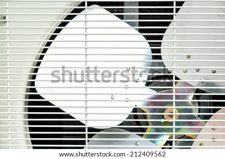 Part of fan of condensing unit air condition - stock photo