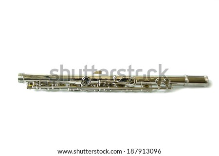 Part of flute - stock photo