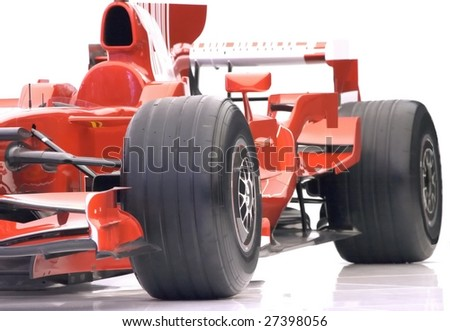 part of formula 1 - stock photo