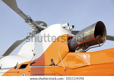 part of helicopter - stock photo