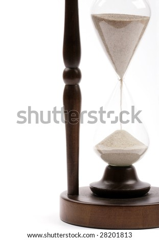part of hourglass close up - stock photo