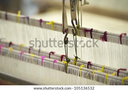 Part of loom  homemade - stock photo