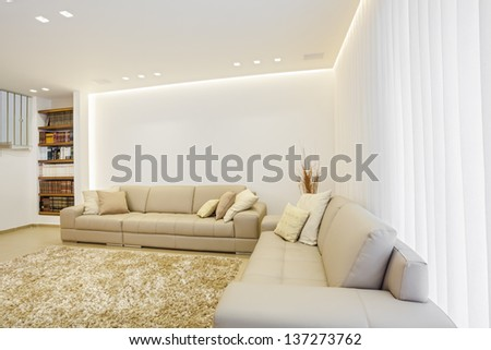 Part Of Luxury Modern Living Room - stock photo