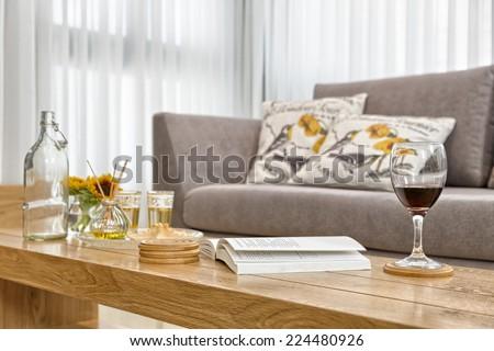 Part Of Luxury Modern Living Room - stock photo