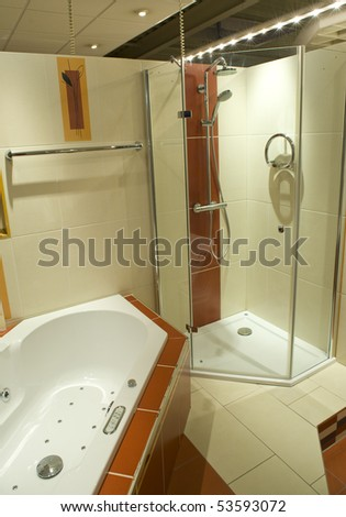 Part of modern bathroom - stock photo
