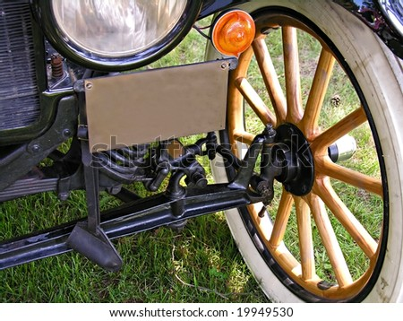 Part of old classic car - stock photo