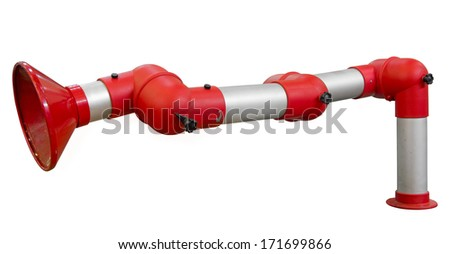 Part of pipeline isolated. Clipping path included. - stock photo