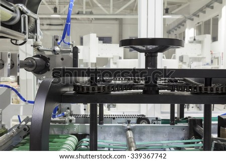 part of printing machines for roll papaer - stock photo