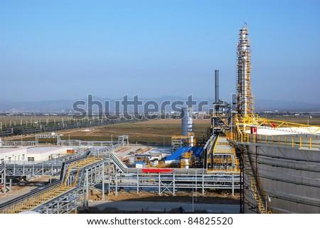 Part of refinery complex/Part of refinery complex - stock photo