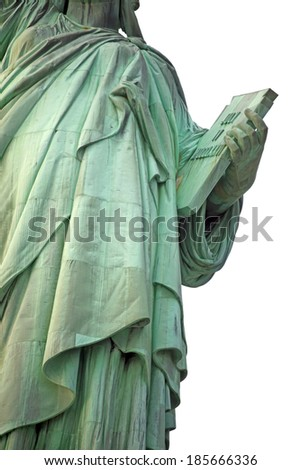 Part of Statue of Liberty New York,  USA - stock photo