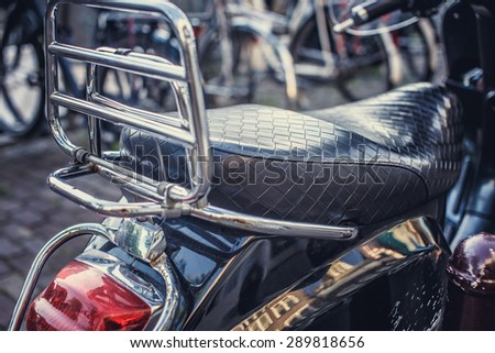 Part of street scooter. - stock photo
