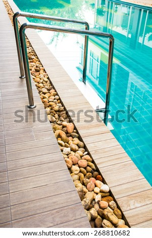 Part of swimming pool - stock photo