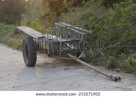 part of Thai tractor - stock photo