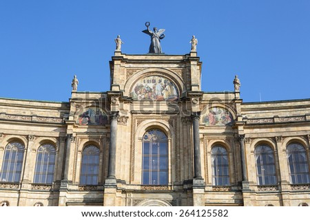 Part of the famous bayerischer landtag - maximilianeum - munich - germany