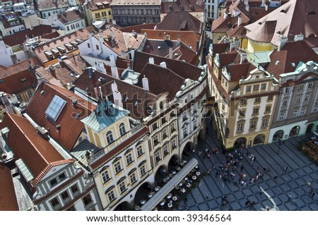 part of the famous Old town square in Prague