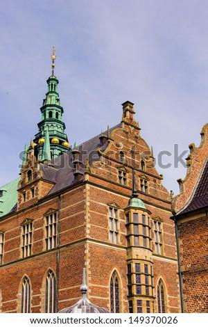 Part of the Frederiksborg Palace - stock photo