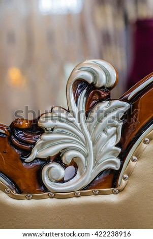 Part of the furniture make Traditional Thai style pattern - stock photo