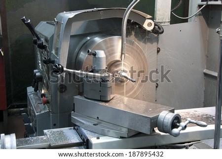 part of the lathe - stock photo