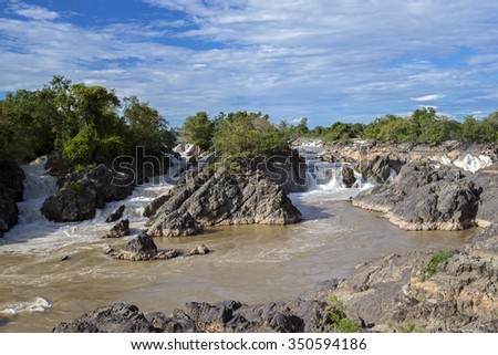 Part of the Mekong Waterfall on southern Laos