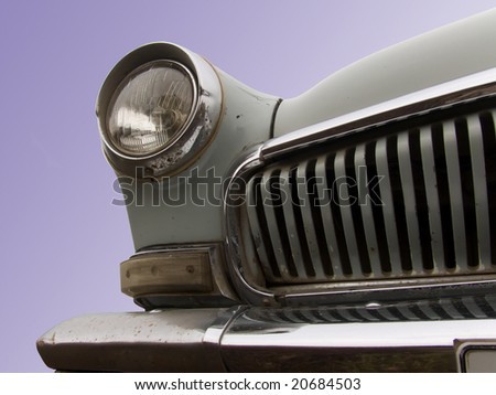Part of the old car - stock photo