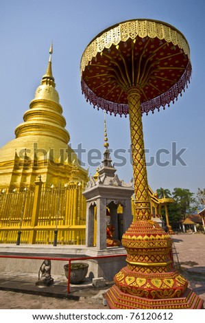 part of the temple Wat Phra That Haripunchai in Lamphun